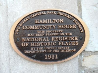 Hamilton Community House Marker image. Click for full size.