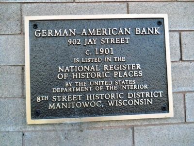 German-American Bank Marker image. Click for full size.