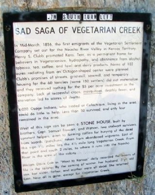 Sad Saga of Vegetarian Creek Marker image. Click for full size.