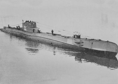 "ORP ""ORZEŁ"" - declared lost after failing to return from her 7th war patrol in the North Sea while image. Click for full size."