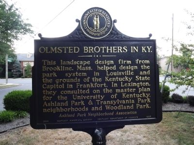 Olmsted Brothers In KY Marker image. Click for full size.
