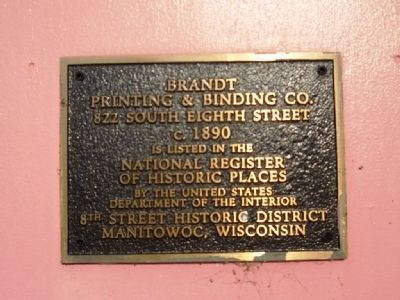 Brandt Printing & Binding Co. Marker image. Click for full size.