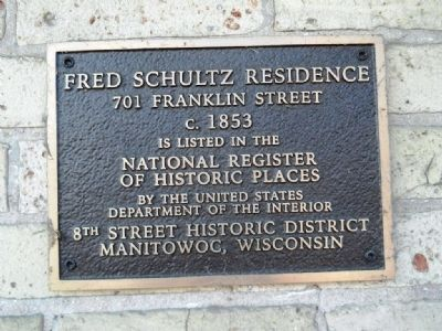 Fred Schultz Residence Marker image. Click for full size.