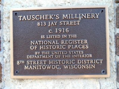 Tauscheck's Millinery Marker image. Click for full size.