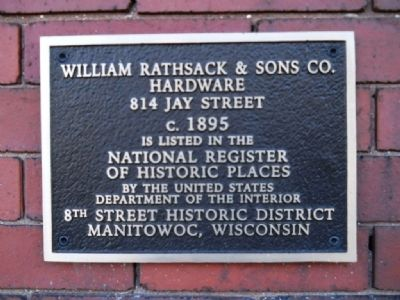 William Rathsack & Sons Co. Hardware Marker image. Click for full size.