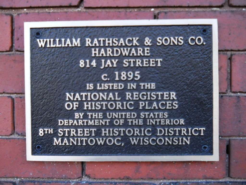 William Rathsack & Sons Co. Hardware Marker