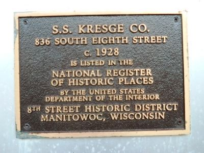S.S. Kresge Co. Marker image. Click for full size.