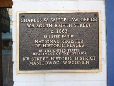 Charles W. White Law Office Marker image. Click for full size.