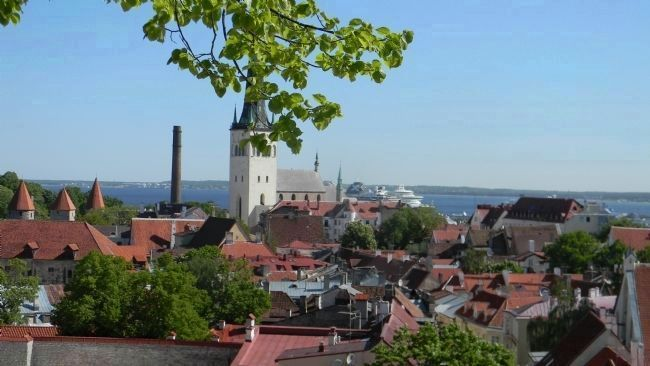 "The Historic Centre (Old Town) of Tallinn: view of <i>Al-Linn</i> (""Lower Old Town"") from image. Click for full size."