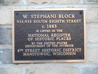 W. Stephani Block Marker image. Click for full size.
