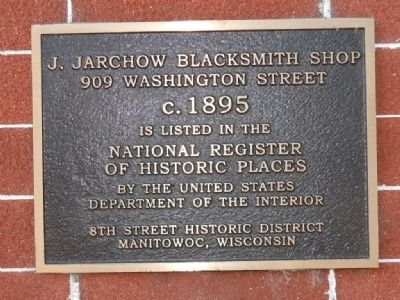 J. Jarchow Blacksmith Shop Marker image. Click for full size.
