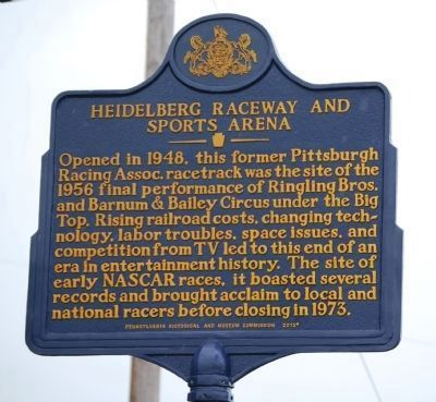 Heidelberg Raceway and Sports Arena Marker image. Click for full size.