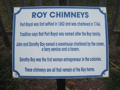 Marker at Roy Chimneys image. Click for full size.
