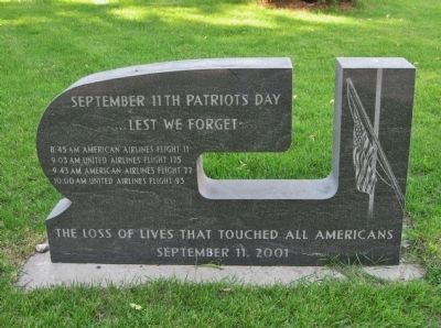 September 11th Patriots Day Marker image. Click for full size.