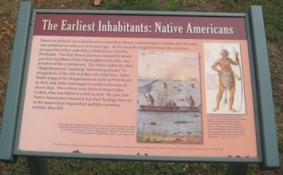 The Earliest Inhabitants: Native Americans Marker image. Click for full size.