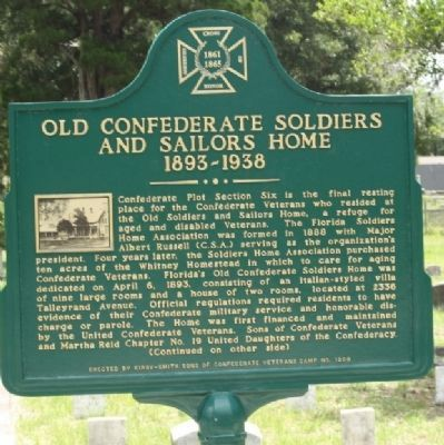 Old Confederate Soldiers and Sailors Home 1893-1938 Marker image. Click for full size.