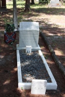 Grave of General Joseph Finnegan at the Old Confederate Soldiers and Sailors Home image. Click for full size.