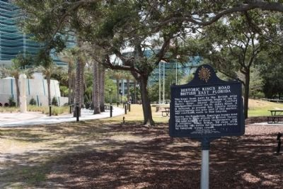 Historic King's Road British East Florida Marker, looking towards San Marco Boulevard image. Click for full size.