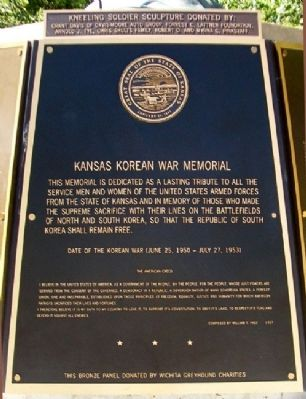 Kansas Korean War Memorial Dedication image. Click for full size.