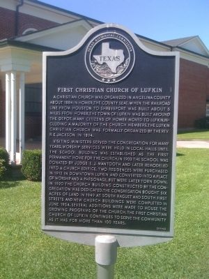 First Christian Church of Lufkin Marker image. Click for full size.