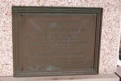 The Roeblings Plaque image. Click for full size.