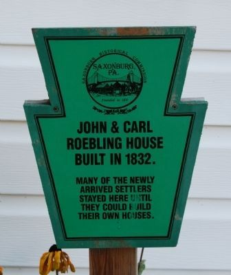 John and Carl Roebling House Marker image. Click for full size.
