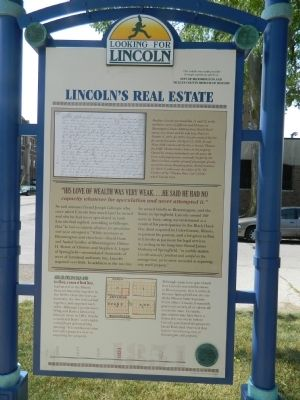 Lincoln's Real Estate Marker image. Click for full size.