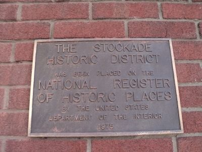 The Stockade Historic District Marker image. Click for full size.