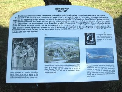 Vietnam War Marker image. Click for full size.