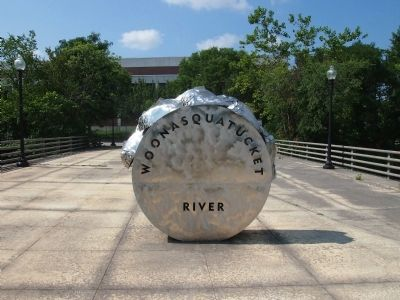 Woonasquatucket River Front of Marker image. Click for full size.