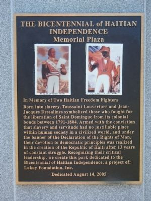 The Bicentennial of Haitian Independence Marker image. Click for full size.