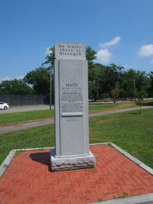 The Bicentennial of Haitian Independence Rear of Marker image. Click for full size.