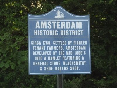 Amsterdam Historic District Marker image. Click for full size.