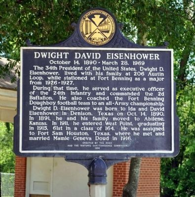 Dwight David Eisenhower Marker, Side 1 image. Click for full size.