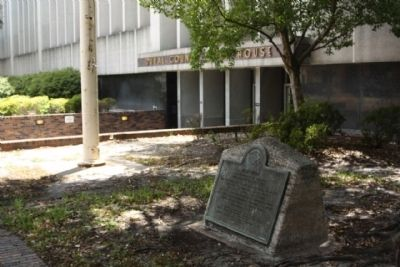 Duval County Marker located at the Courthouse image. Click for full size.