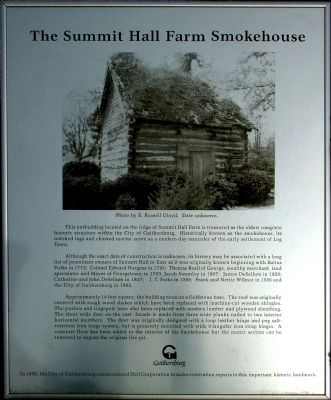 Summit Hall Farm Smokehouse Marker image. Click for full size.