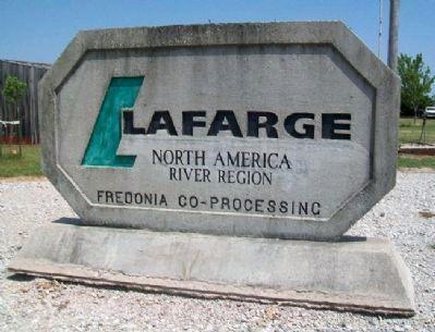 LaFarge Plant Cement Sign image. Click for full size.