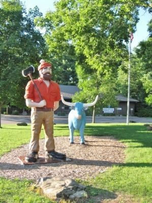 Paul Bunyan and Babe image. Click for full size.