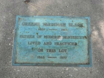 Greene Vardiman Black Plaque image. Click for full size.