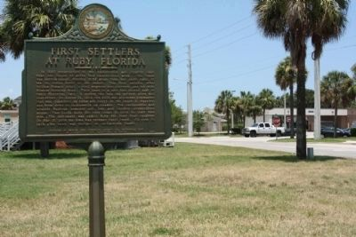 First Settlers At Ruby, Florida Marker, seen near N 4th Street image. Click for full size.