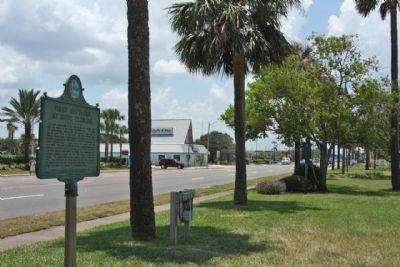 First Settlers At Ruby, Florida Marker, looking west along Beach Blvd image. Click for full size.