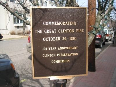 The Great Clinton Fire Marker image. Click for full size.