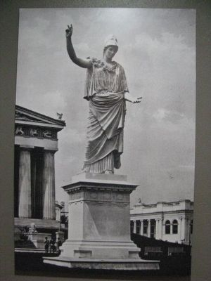Athena~Photograph and info from the Parthenon Museum image. Click for full size.