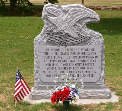 Veterans' Memorial, Duncan, Oklahoma image. Click for full size.