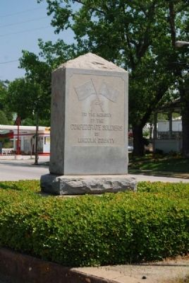 Lincoln County Confederate Monument image. Click for full size.
