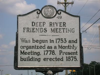 Deep River Friends Meeting Marker image. Click for full size.