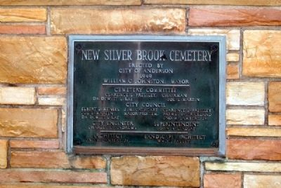 New Silver Brook Cemetery Dedication Plaque image. Click for full size.