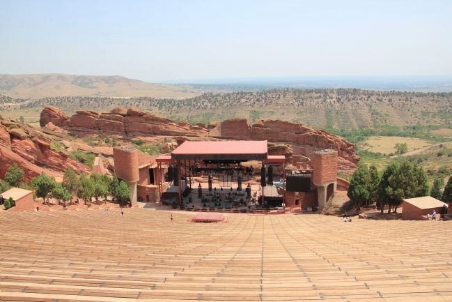 Red Rocks Amphitheater Stage image. Click for full size.