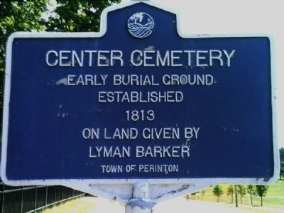 Center Cemetery Marker image. Click for full size.