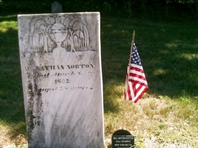War of 1812 Veteran Headstone in Center Cemetery image. Click for full size.